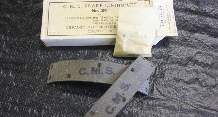 CMS #34 Rear Brake Linings