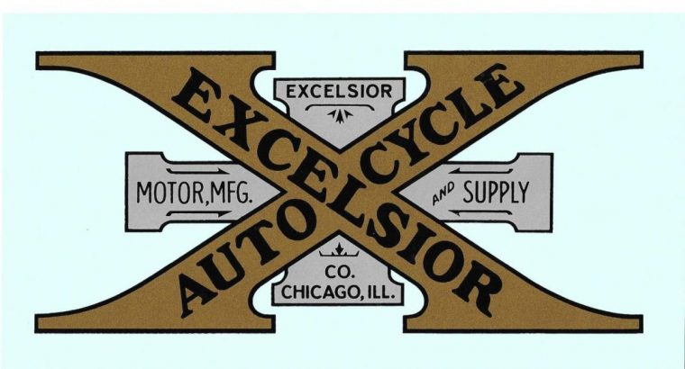 1912-16 EXCELSIOR GAS TANK AND FENDER – W/S DECALS