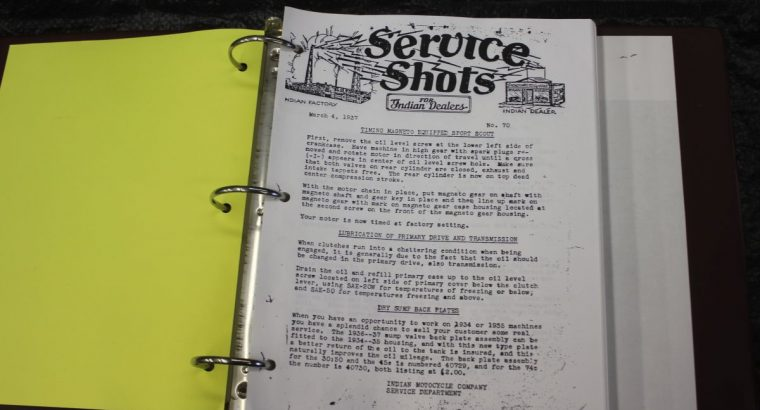 Indian Service Shots / Reprints