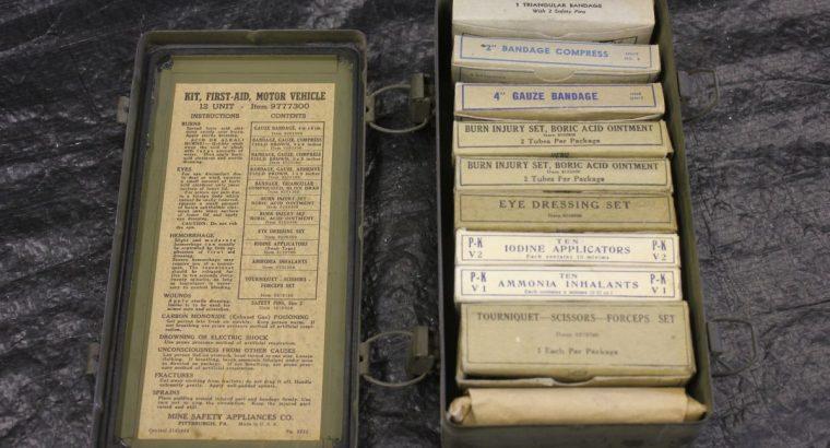 U S Army Medical Emergency Kit / NOS