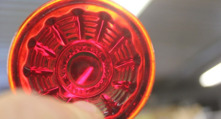 Motorcycle Tail Light Red Glass