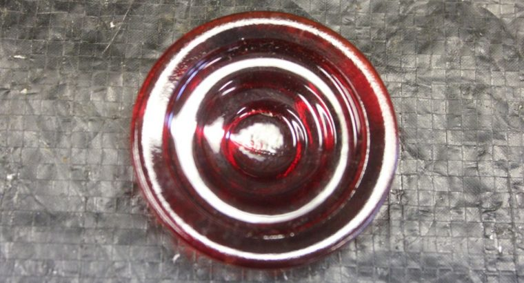 Red Motorcycle Tail Light Glass / Flat