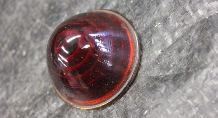 Red Dome Motorcycle Tail Light Glass Lens