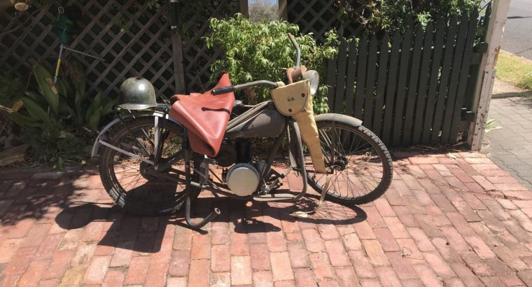 WWII USA Airborne motorcycle in Adelaide SAustrali