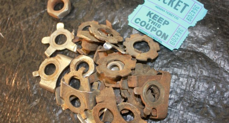 USED OEM SPRING FORK LOCK PLATES AND NUTS