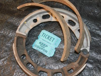 CAST STEEL FRONT BRAKE SHOES and LININGS