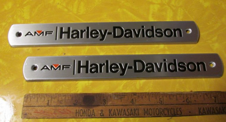 NOS OEM Harley 1972-1978 Gas Tank Emblems