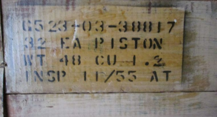 NOS Harley 45 Sealed WW11 Crate Of Pistons.