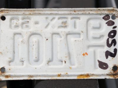 1963 Texas motorcycle plate